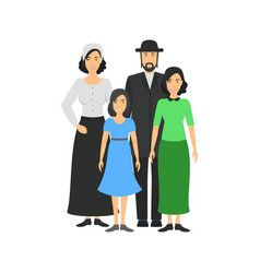 cartoon characters people jewish national family vector image