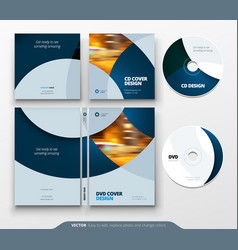 Cd envelope dvd case design business template vector