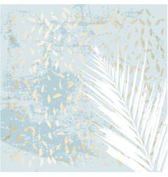 Chic winter pastel gold print vector