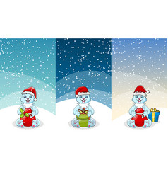 christmas gift and toy banner set present boxes vector image