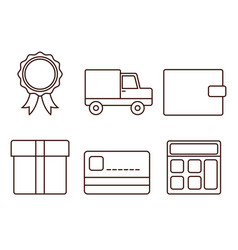 delivery related icons vector image