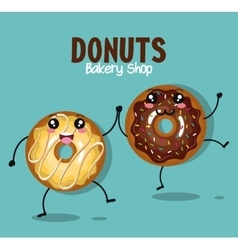 Donut tasty sweet graphic vector