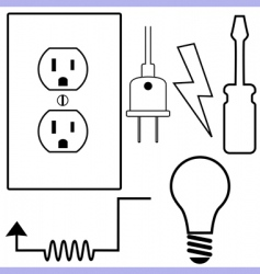 electrical symbols vector image