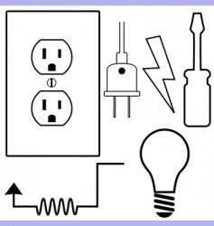 Electrical symbols vector