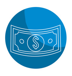 Emblem bill dolar money vector