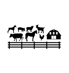 farm animal set vector image
