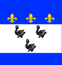 Flag of laon in aisne of hauts-de-france vector