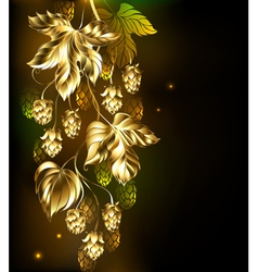 Golden hops vector