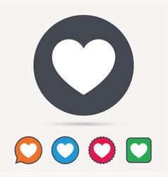 Heart icon romantic love sign vector