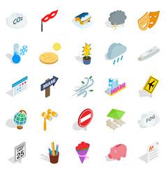 individual icons set isometric style vector image