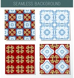 kaleidoscope background set vector image