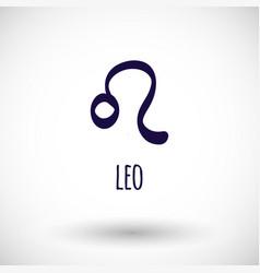 leo zodiac sign icon vector image