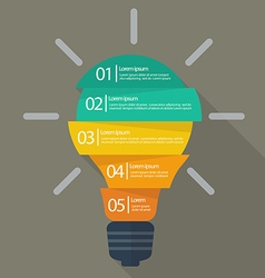Light bulb infographic vector