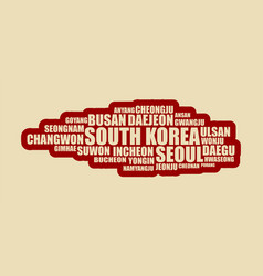 List of cities and towns of south korea vector