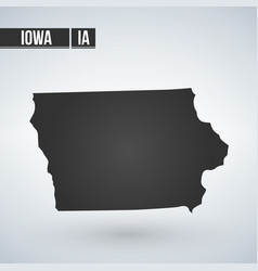 Map iowa isolated on white background vector