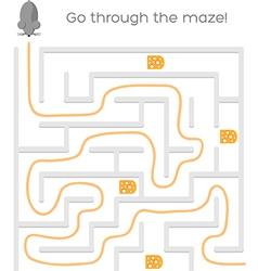 Maze Game vector image