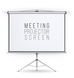 meeting projector screen presentation vector image