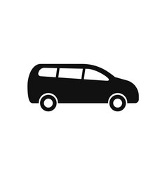 minivan icon in modern design style for web site vector image