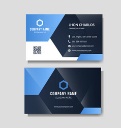 modern blue business card vector image
