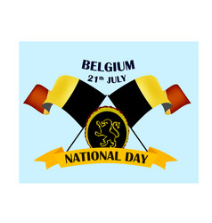 nayional day of belgium with vector image
