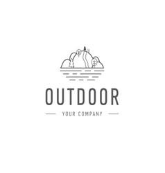 Outdoor explorer badge outdoor vector