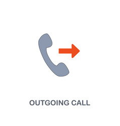 outgoing call icon premium two colors style vector image