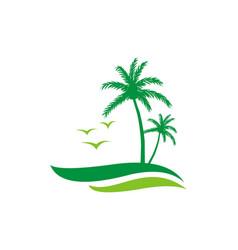 palm tree logo vector image