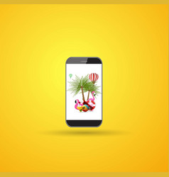 Phone summer icon summer travel and vacation vector