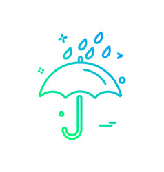 rain icon design vector image