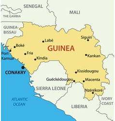 Republic of Guinea - map vector image