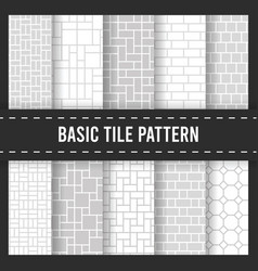 seamless pattern background brick floor cobbleston vector image