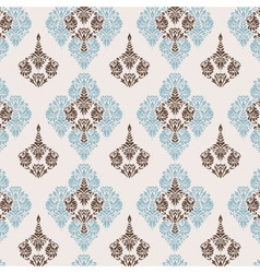 Seamless pattern damask style vector