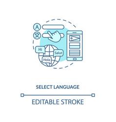 Select language concept icon vector
