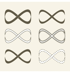 Set limitless icons infinity symbol vector