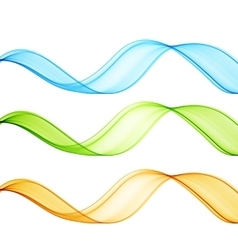 Set of color wave vector image