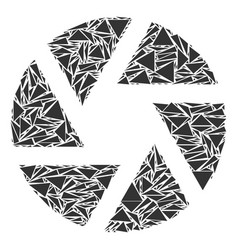 Shutter collage of triangles vector