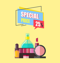 Special price 25 percent off vector