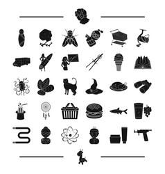 Temperature cream and other web icon in black vector