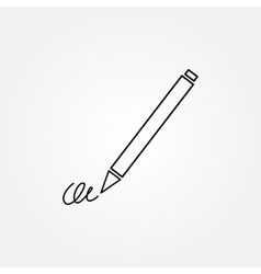 The signature pen undersign underwrite ratify vector image