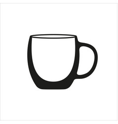 transparent cup icon in simple monochrome style vector image