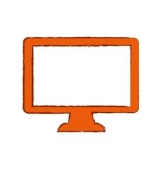 TV screen technology vector image