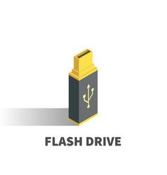 usb flash drive icon symbol vector image