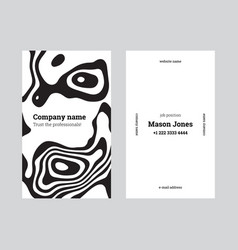 White and black creative business card template vector