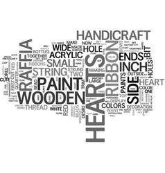 Wooden handicraft text word cloud concept vector