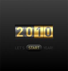 digital counter 2010 vector image