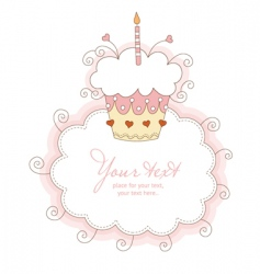 happy first birthday vector image