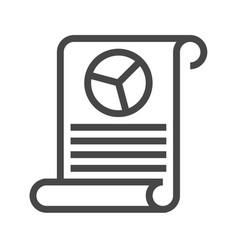 report thin line icon vector image
