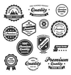 vintage quality labels vector image vector image