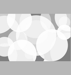 white grey circle abstract background vector image vector image