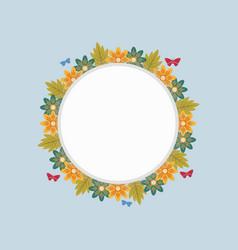 Art of wreath frame spring vector